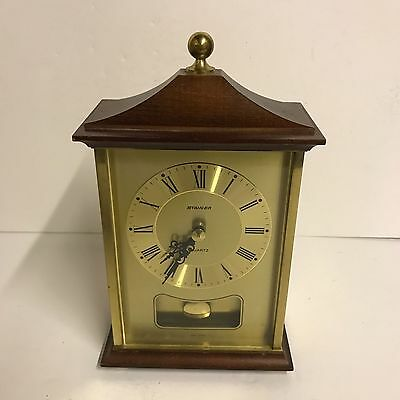 Staiger Quartz Mantel/Carriage Pendulum Clock - Vintage - Made In Germany