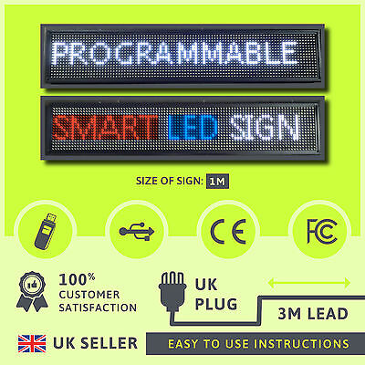 Programmable LED moving message neon indoor SNO smart sign display Brilliant !