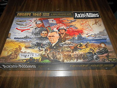 AXIS & ALLIES EUROPE 1940 Second Edition!! A WWII Strategy Game! Brand New!!