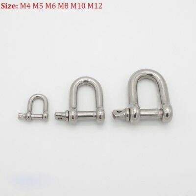 4mm 5mm 6mm 8mm 10mm 12mm Dee Shackles Stainless Steel D Shackles Free Postage