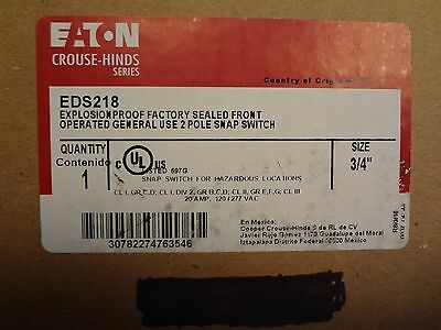 """COOPER Crouse-Hinds EDS218 Explosion Proof Enclosure w/ 2-pole Switch 20A 3/4"""""""