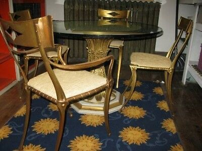 Vintage, MCM, Palladio,Italian, table and 4 chairs. Signed and dated 1963.