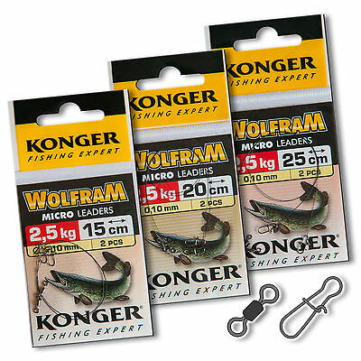 Wire Trace Leader 2.5kg Wolfram Tungsten Perch Pike Sea Soft Lure Fishing Tackle