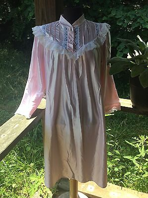 Jessica Alexander Pink Sateen With Delicate Lacy Gown  Details Sz Med Usa Made