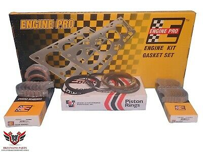 Engine Pro Chevy Sbc 327 350 5.7 Re Ring Rebuild Kit With Main Bearings 80 - 85
