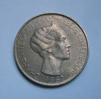 Luxembourg  5 Francs 1962, Ruler: Charlotte