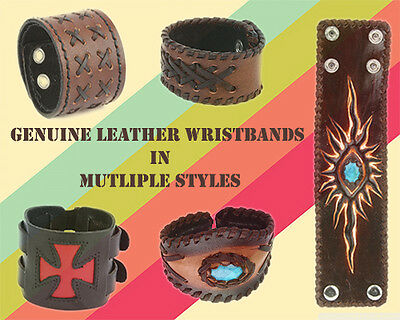 Wholesale lot of Genuine Leather Wrisbands Hipster, Hippe Various Style Design