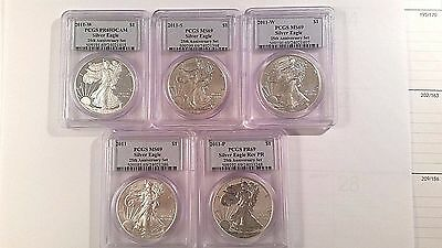 2011 American Silver Eagle 25th Anniversary set - PCGS Graded MS 69- GREAT price