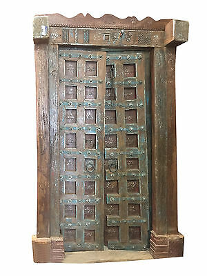 Antique Indian Doors Floral Patina Vintage Indian Architecture Old Haveli Door