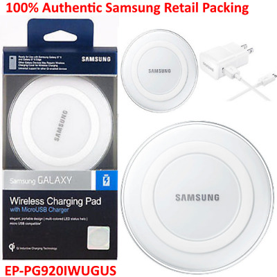 Genuine Qi Wireless Charging Pad For Samsung Galaxy S6 S7 Edge Note 5 s7 White