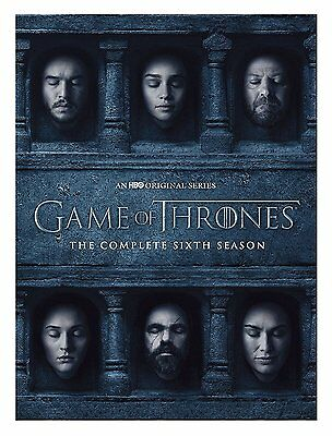 Game of Thrones: The Complete Sixth Season 6 (DVD, 2016) New Free Fast Shipping!