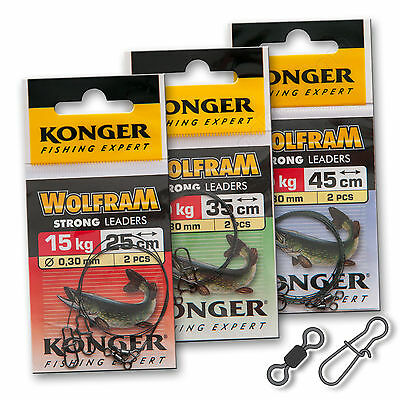Wire Trace Leader 15kg Wolfram Tungsten Perch Pike Sea Soft Lure Fishing Tackle