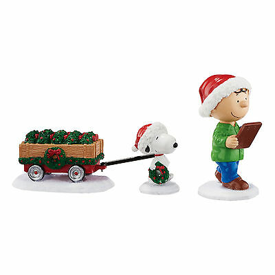 Snoopy Charlie Brown Checking The List Christmas Figurine Peanuts Department 56
