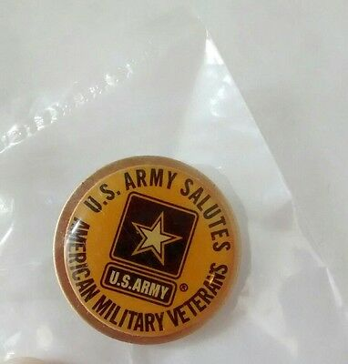 U.S. ARMY Salutes... to American Military Veterans Pin / Hat Pin...