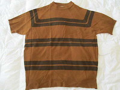 VTG Mod Towncraft Penneys Boarder Stripe Surfer Shirt DEADSTOCK Large