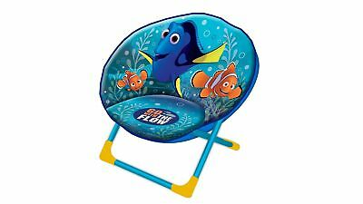 Finding Dory Moon Chair with Print - Soft, Cosy & Comfortable - Light Blue