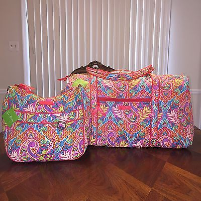 NWT Vera Bradley 2 pcs Lot Large Duffel & Carryall Crossbody