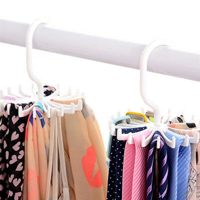 Rotary Tie Hanger Rack Holder 20 Hook Belt Necktie Muffler Scarf Holds Organizer