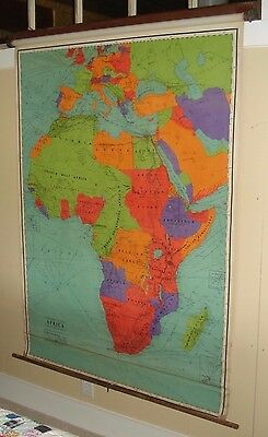 1930 Rand Mcnally Columbia Series Map Africa Silas Willard School Galesburg Il