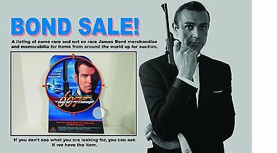 """James Bond 007 Counter top Standee 14"""" Tall - """"The World Is Not Enough"""" RARE!"""