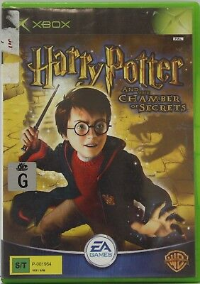 HARRY POTTER AND THE CHAMBER OF SECRETS Microsoft Xbox Game PAL + Booklet