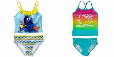 New Girls Disney Dory, & Hello Kitty Tanikini Swimwear 2 piece UPF50+ S M L