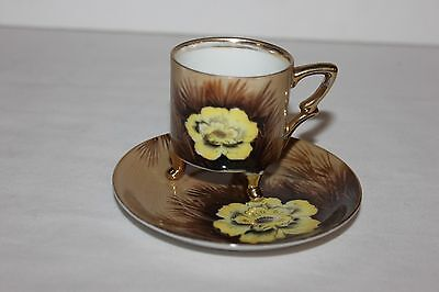 Vintage Norcrest China Tea Cup And Saucer- Wild Cactus