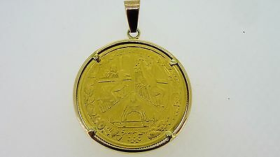 "9ct Sydney 2000 Olympic  $100 Dollars ""Dedication 2"" Gold Coin Pendant"