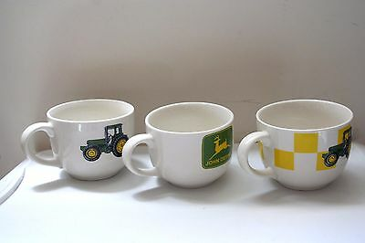 Set of 3 Different Designs John Deere Large Coffee Mug Soup Chile by Gibson