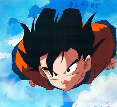 Dragon ball Z Goku Flying Original Production Animation Cel Anime Background
