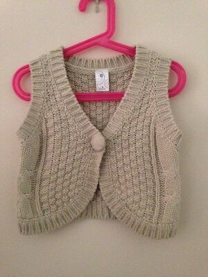 Girls Target Knit Vest Cardigan Size 3 Cheap Post $4