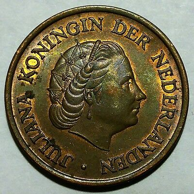 Rare 1973 Netherlands 5 Cents KM#181 About Uncirculated No Reserve!