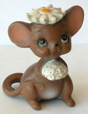Vintage Josef Original Mouse Bride With Daisy Hat And Bouquet Made In Japan