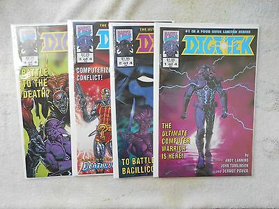 Dec. 1992 Digitek # 1/2/3/4/ Set   NM 9.4