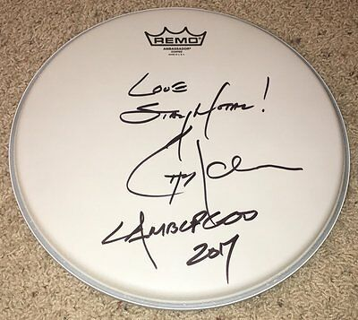 "CHRIS ADLER LAMB OF GOD SIGNED AUTOGRAPH 12"" REMO DRUMHEAD w/EXACT PROOF"