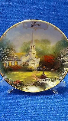 Thomas Kinkade limited edition plate simpler times June