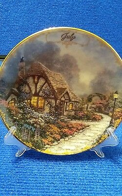 Thomas Kinkade limited edition plate simpler times July