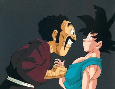 Dragon ball Z Goku Hercule Mr Satan Original Production Animation Cel Grandpas