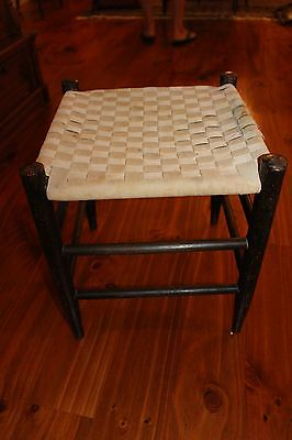Authentic Antique Shaker Stool ~ All Original with Stamp ~ Mt Lebanon, New York