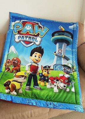 Paw Patrol Cot Quilt or Playmat Handmade NEW