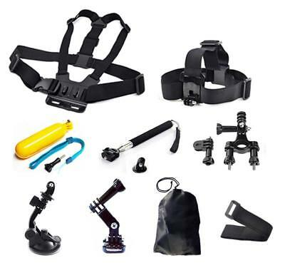 9in1 Head Chest Mount Floating Monopod For GoPro Hero 2 3 4 5 Camera Accessories