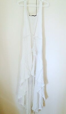 Sportsgirl White Dress Wrap Size 10 As New PERFECT for Maternity RRP $80+
