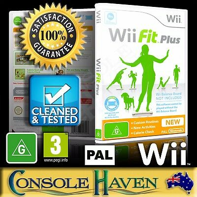 (Wii Game) Wii Fit Plus / + (for Balance Board) (G) (Fitness & Health) PAL