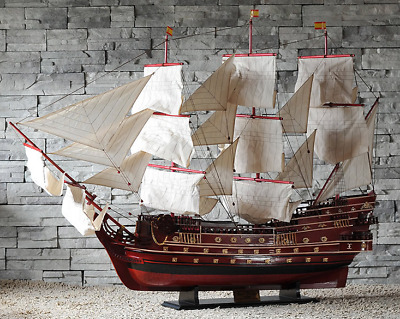 "SALE 63"" The San Felipe 1690 Wooden Ship Model Spanish Armada Galleons;Assembled"