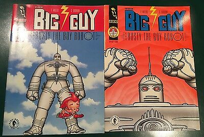 The Big Guy & Rusty The Robot #1 & 2 Soft Covers!! Original Release 1995!! Vf