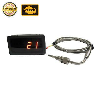 EGT Gauge (Red LED) with Exhaust Temperature Sensors Combo Kit (Celcius)