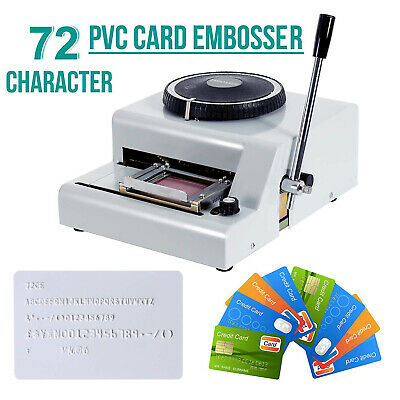 72 Character PVC Credit Card Embossing Letter Manual Embosser Stamping Machine