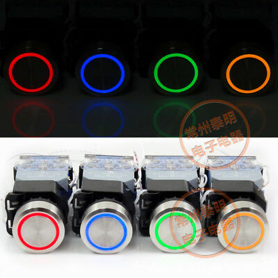 LED 24/220V Metal Momentary On/Off Push Button Switch 22MM Panel Mounting