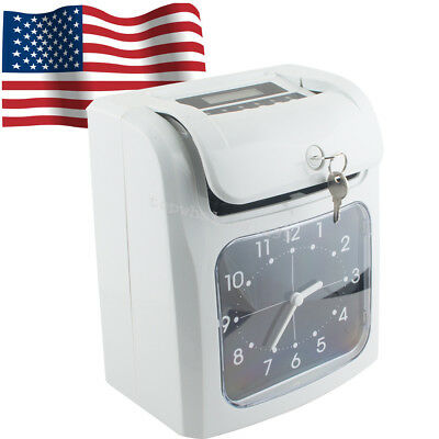 Electronic Employee Analogue Time Recorder Time Clock w/Card Monthly/Weekly TOP
