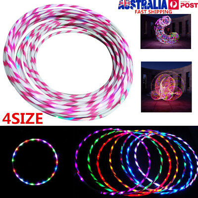 4 SIZE Colorful 24 LED Lights Flash Hula Hoop Abdominal KEEP Fitness Equipments
